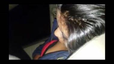 Enjoying Watching Sexy Boobs Of Drunk Desi Chick In Car