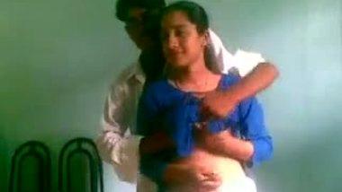 Desi college teen Shabana's boob press & blowjob