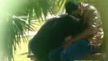 Hidden cam Muslim bhabhi's desi outdoor blowjob