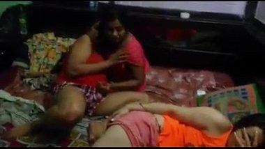 Sexy girls having erotic fun in the hostel