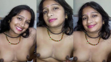 Newly Wed Wife Shy on Honeymoon Night.Cute Shy Smile Before Starting Sex..Hot Bhabhi