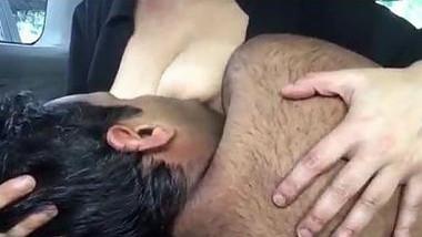 Indian professor Punjabi student boob sucking again in a car
