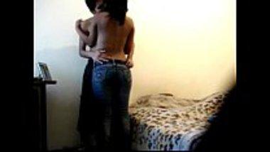 Indian boyfriend fucks her girlfriend's teen sister very fast at home