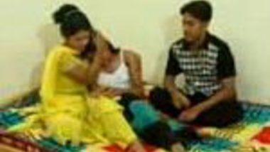 Group threesome Indian porn of Saali do hot chudai with jiju and didi