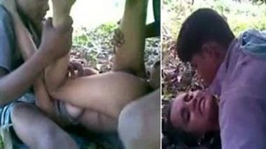 Owner's Indian girl garden Desi servants threesome