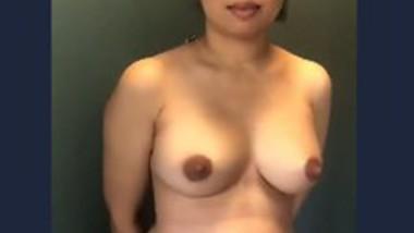 Very beautiful girl show boob