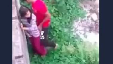 Desi village girl standing fucking