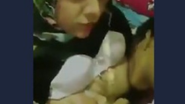 Desi lover sucking gf boob