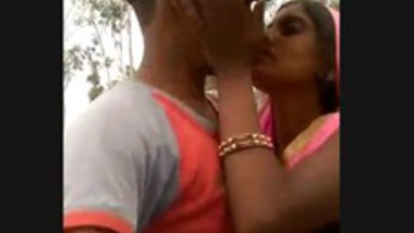 Bhabhi with young lover outdoor