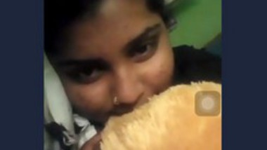 Beautiful girl video call with her lover 2