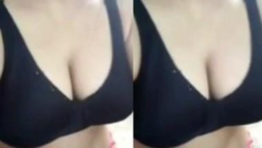 Big boob paki Girl in black Bra