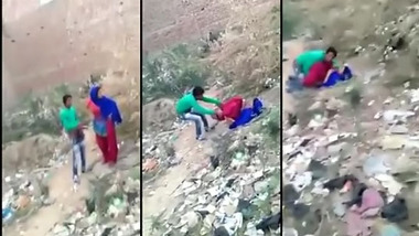 Desi slum XXX babe fucked by local guy in the outdoors