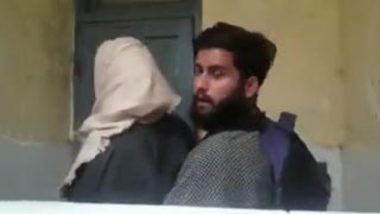 Hijab cheating Desi wife fucked in toilet while husband drinks coffee