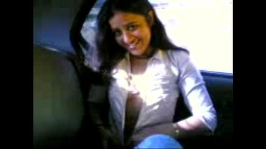Cute Desi Girl Stripping Inside The Taxi