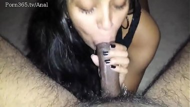 NRI Girl's Hot Blowjob To Her Lover With Long Dick