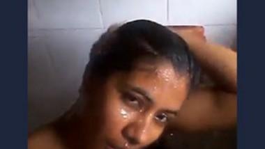 Cute girl bath