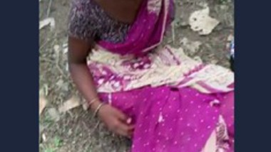 Desi village girl outdoor with lover