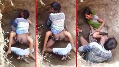 Daring Desi outdoor XXX sex act recorded by a voyeur