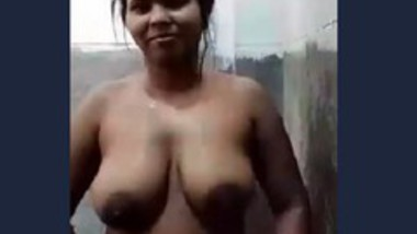 Desi village wife video call in bathroom with lover
