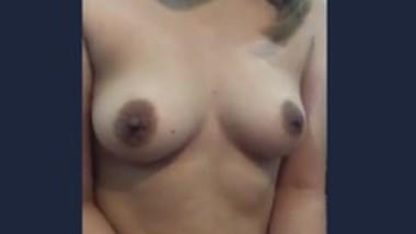 Desi Girl playing with boob