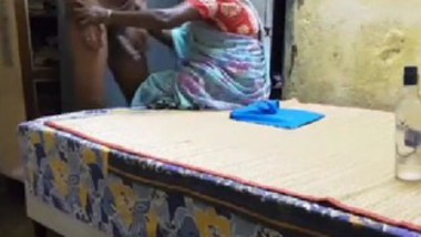 Indian maid handjob and cum