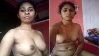 Serious Indian babe takes XXX boobs to light pacing around the flat