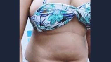 Desi Babe Strip Bikini