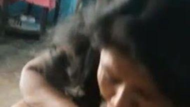 Whorish Desi mom with nose piercing worships husband's dick