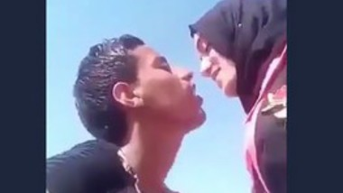 Arab Lovers Kissing Outdoor