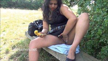 Indian amateur outdoor masturbation of chubby oriental, XXX sex