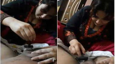 Caring Desi wife shaves husband's balls in a first-person XXX video