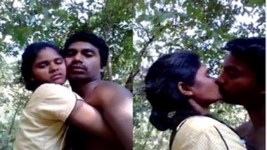 Boy films him kissing his Indian sex wife in such a XXX manner
