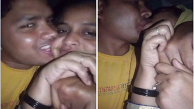 Naughty Desi lovers make out in the street in spontaneous XXX video