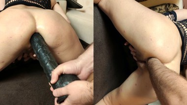 ANAL FISTED MILF + BIG DILDO IN THE ASS (preview)