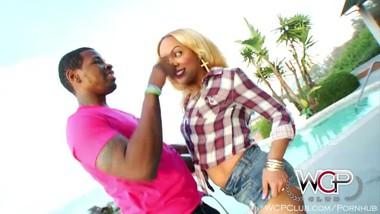 WCPClub Ebony Blonde with Juicy Booty takes on a BBC