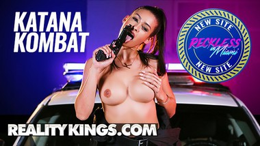 Reality Kings - Dirty Phat Ass Miami Cop Cuffs herself a big cock