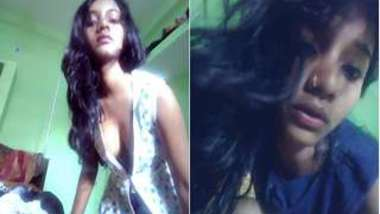 XXX amateur porn video compilation of stripping girl living in India