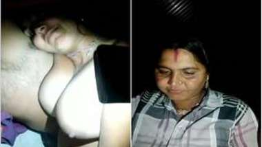 Female with Indian features allows man to shoot an amateur XXX film