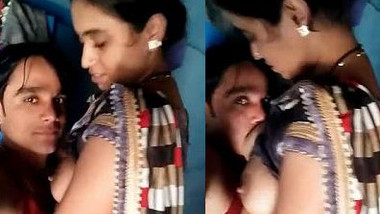 Desi boy begins sex with comely GF by kissing her hard XXX nipples