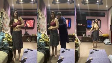 Big booby Paki Randi striptease nude dance show