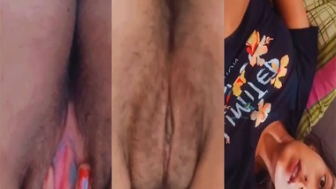 Pink pussy girl nude hairy pussy show