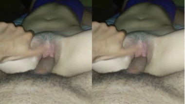 Indian housewife performs fucking with no face exposed in POV porn video