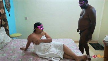 Desi Bhabhi Shanaya After SHower In White Towel...