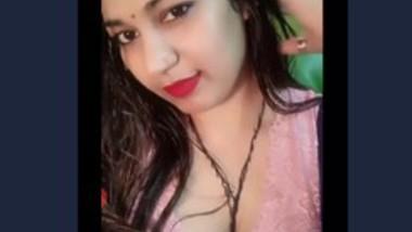 Desi girl selfie video record