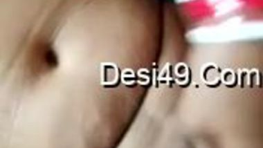 Spouse is horny and the Desi wife strokes his penis with hand