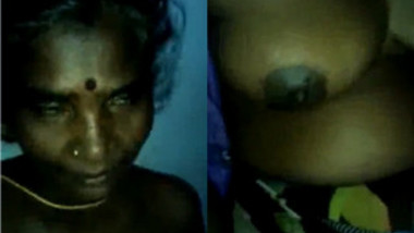 Mature Indian makes her XXX breasts public and boy touches sex nipples