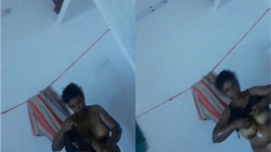 Man films video of Indian wife putting on clothes after taking a shower
