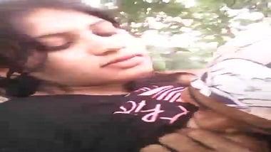 Madhya Pradesh teen girl records outdoor foreplay with bf