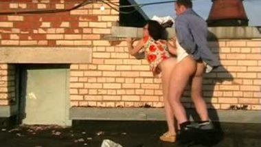 NRI aunty outdoor sex with hubby in terrace recorded