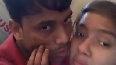 Indian witch takes the edge off kissing loved man before the camera